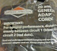 Briggs Amp Stratton 20 Amp Generator Adapter Cord Set 25 Long