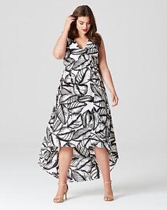 5ac98d2fc2f1 Image is loading A-New-Lovedrobe-Tropical-Print-Dipped-Hem-Dress-