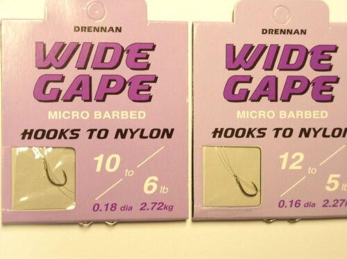 10,12,14,16,18 Drennan Wide Gape Vorfachhaken für  Match-// Feederrute Gr