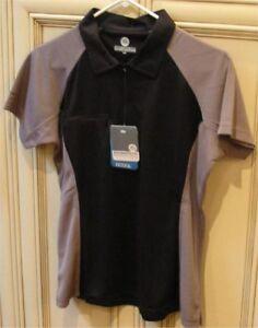 Women-039-s-20-034-Large-Stormtech-GCOOL-1-4-Zip-Golf-Polo-Shirt-Top-Black-Grey-Sides