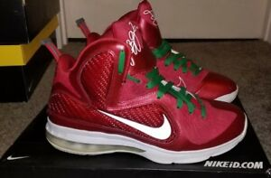 finest selection 94f4c 4c52e Image is loading LEBRON-9-Christmas-Nike-ID-Size-10-Rare-