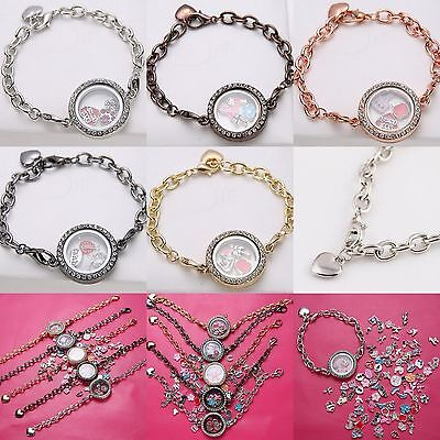 HOT Living Memory Locket Pendants Necklaces & Bracelets For Floating Charms