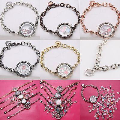 HOT Living Memory Locket Pendants Necklaces & Bracelets For Floating Charms