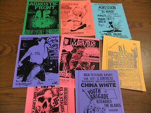 Aggression-Repo-Concert-Flyer-Lot-Misfits-China-White-Circle-Jerks-Youth-Brigade