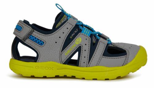 Geox Kinder Sandale Sandalette Schlupfschuhe Sommer J925xa-05014 Grau Neu