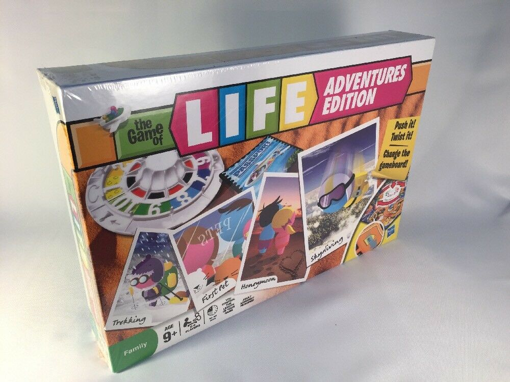 THE GAME OF LIFE   ADVENTURES EDITION BY HASBRO 2010