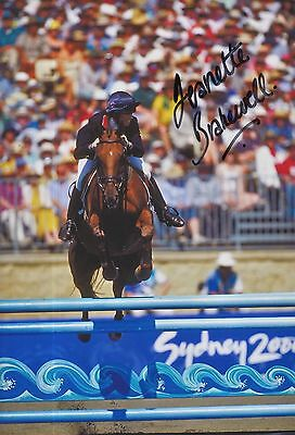 Workmanship Exquisite In Radient Jeanette Brakewell Hand Signed Olympics 12x8 Photo