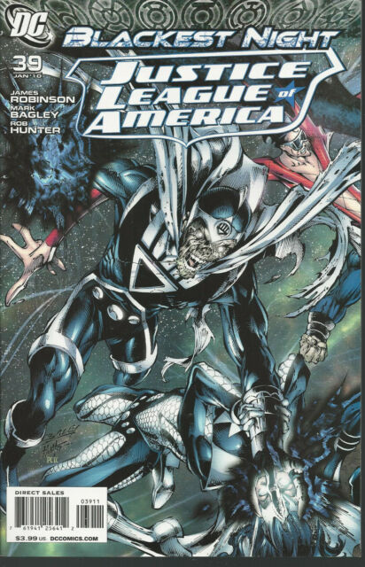 DC # 39 JAN 10 JUSTICE LEAGUE OF AMERICA  BLACKEST NIGHT NRMT-MT AWESOME COMIC
