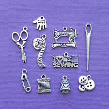 COL029 Junk Food Charm Collection Antique Silver Tone 9 Different Charms