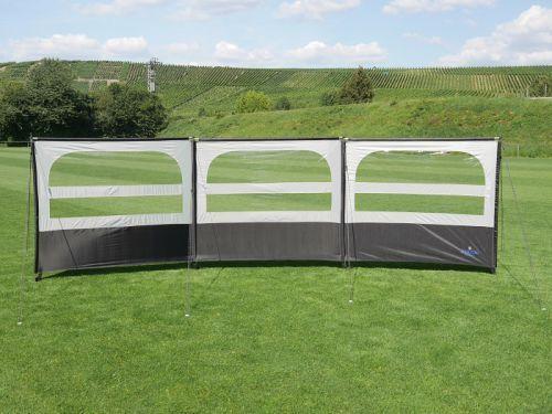 Camping Windschutz XL Strand Zelt Garten Zaun Sichtschutz groß 450x125 Fenster