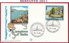 ITALIA FDC FILAGRANO PROPAGANDA TURISTICA CAMPIONE D'ITALIA 1984 TORINO Y601