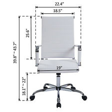 Office Chair Height Adjustable High Back Swivel With Puresoft Pu Leather