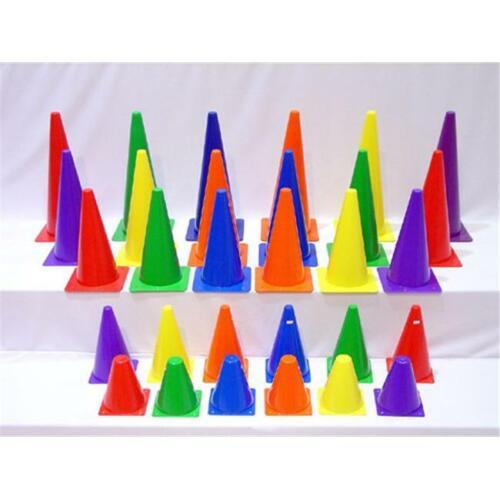 Set of 6 Everrich EVB-0018 18 Inch Plastic Cones