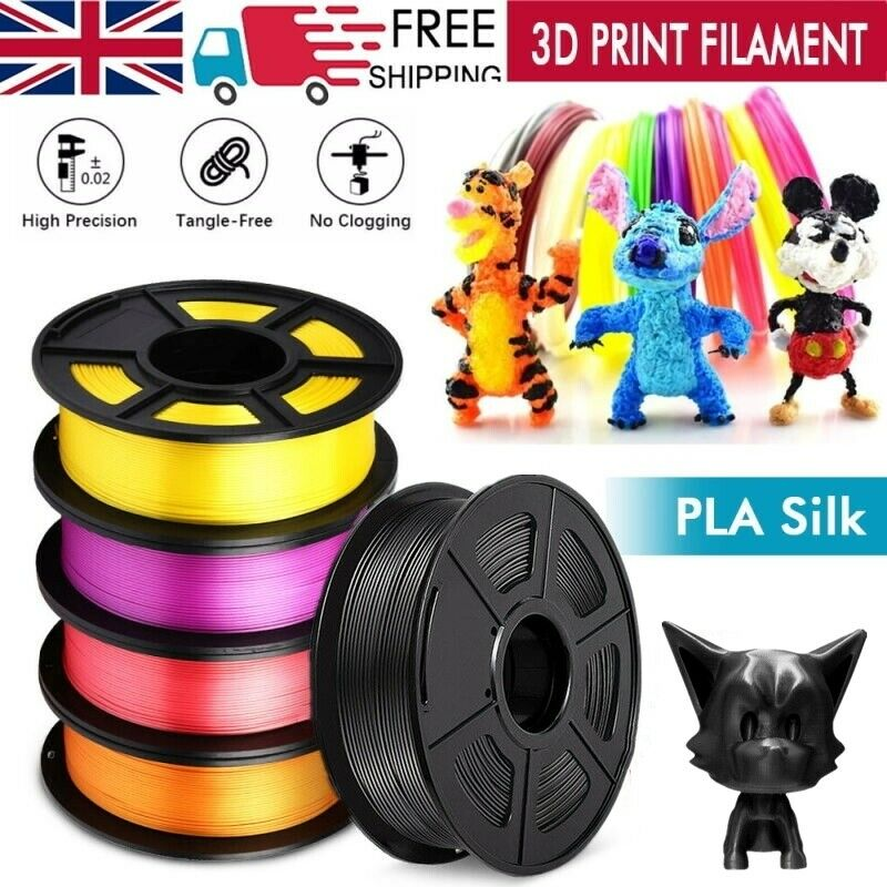 3D Printer Filament PLA Silk Printing 1.75mm 1KG Various Colours Available New