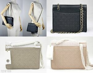 ea20eb26d89a Details about Tory Burch BRYANT Quilted Leather Shoulder Bag Cross Body  Messenger 39068 $465