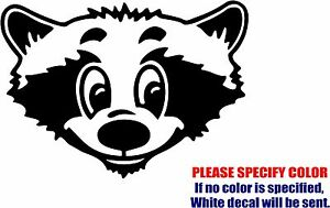 "Vinyl Decal Sticker - Cute Raccoon Face Car Truck Bumper Window Wall JDM Fun 7"""