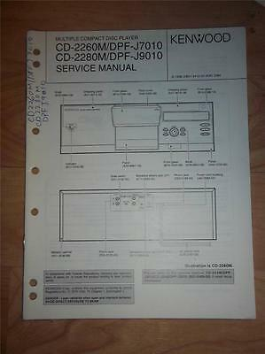 Kenwood Service Manual~CD-2260M//2280M~DPF-J7010//J9010 CD Player~Original