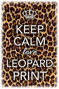 Keep-Calm-Love-Leopard-Impression-Pancarte-en-Tole-Signe-Metal-Etain-20-X-30-CM