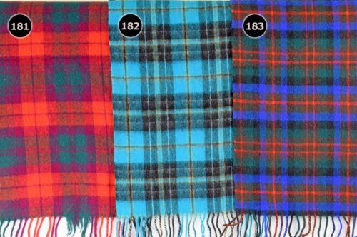 TARTAN SCARF Soft Touch Plaid Check Shawl Acrylic Wool Woollen Scotland 181-183
