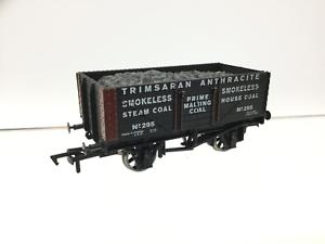 Dapol-David-Dacey-OO-Gauge-7-Plank-Wagon-Trimsaran-Anthracite