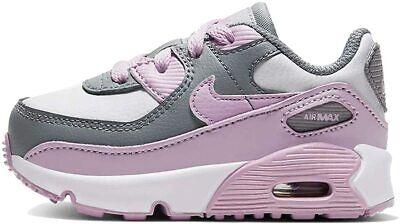 Scarpe sportive bambina NIKE Air Max 90 TD pelle bianco grigio rosa CD6868-002 | eBay