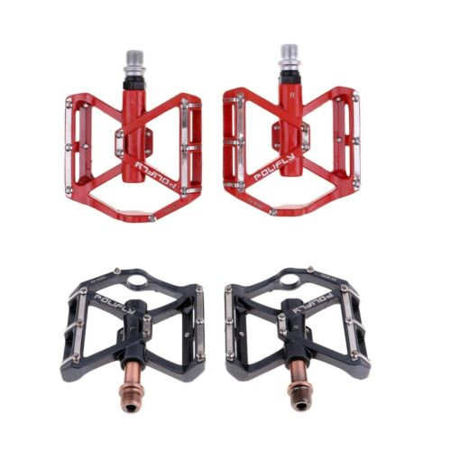 Road Bicycle Mountain MTB BMX Bike Cycling 3 Bearing Flat-Platfrom Pedals