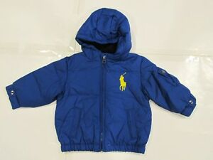 8f61c95714d81 New tag NWT Ralph Lauren Boys Blue Polo Down Hooded Winter Jacket ...
