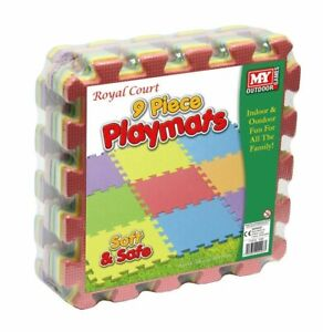 9-Piece-Playmats-Multi-Coloured-Foam-Interlocking-Soft-Play-Mats-Indoor-Outdoor