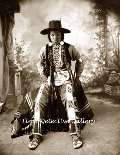 A Young Nez Perce Indian Boy Historic  Photo Print