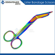 Lister Bandage Nurse Scissors 35 Titanium Color Rainbow