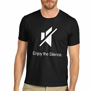 Men-039-s-Enjoy-The-Silence-Funny-Slogan-T-Shirt