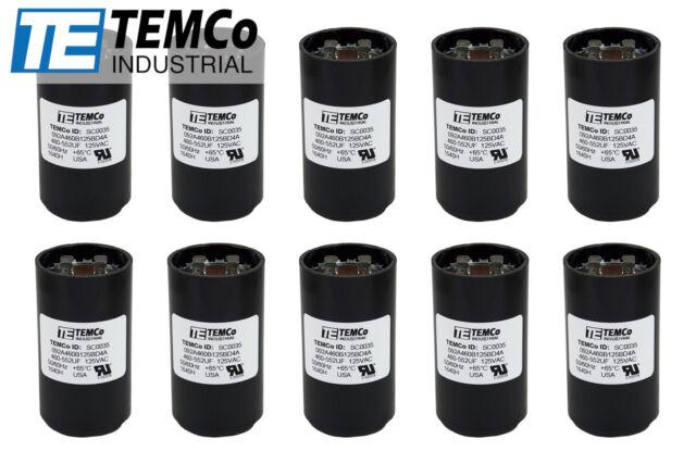Podzespoły elektroniczne TEMCo 540-648 MFD uF Electric Motor Start Capacitor 110-125V HVAC 125 vac v volt