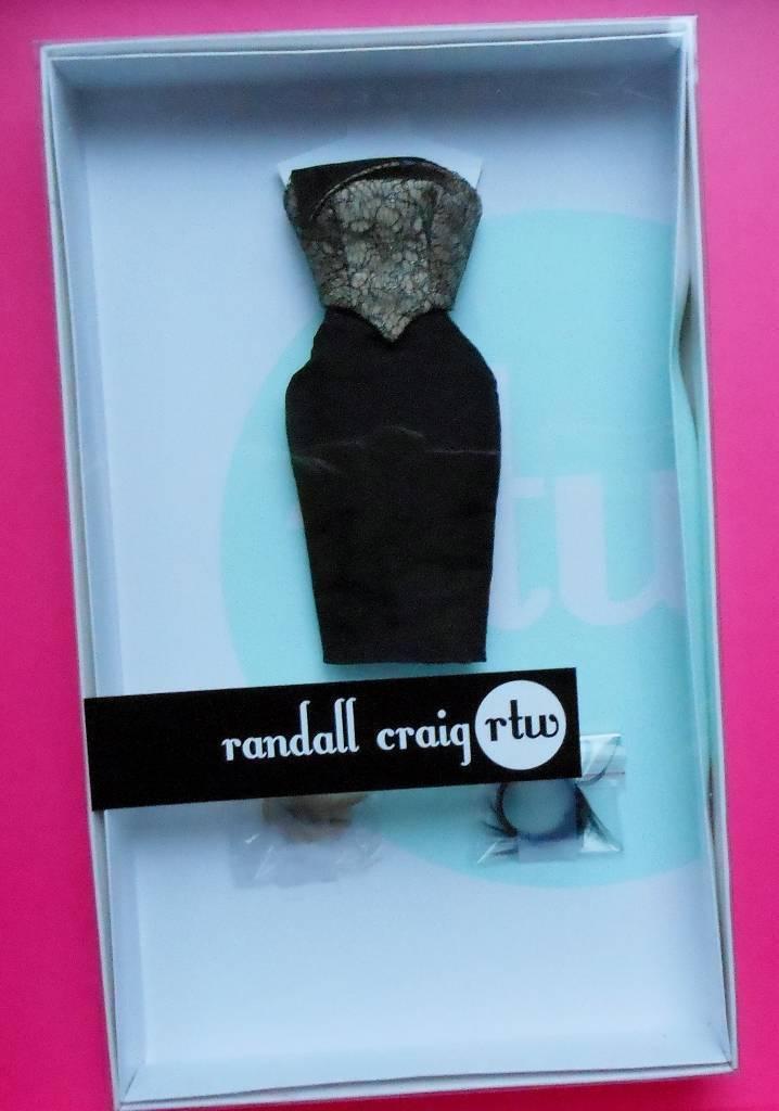 12  Randall Craig ropa  un poco drama Moda  le 80  Fit realeza Monograma   Nuevo