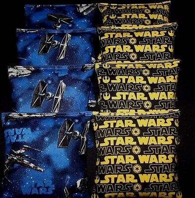 Star Wars fabric 8 cornhole ACA regulation cornhole bags Darth Vader Party Bag