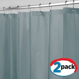Image Is Loading Smoke Shower Curtain Liner Vinyl Mildew Resistant Extra