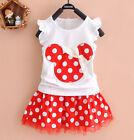 2Pcs bébé Robe Fille Cute Minnie Mouse Robes Enfants Bébés T-Shirt Robe Tutu