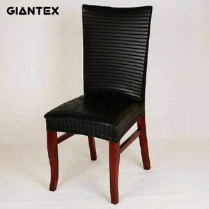 Details about PU Leather Elastic Modern Dining Chair Covers For Kitchen  Seat Cover Dining Room