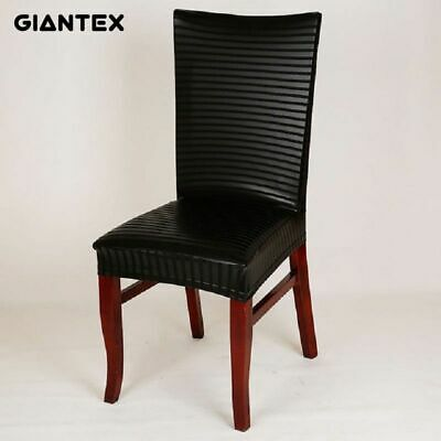 PU Leather Elastic Modern Dining Chair Covers For Kitchen Seat Cover Dining  Room | eBay