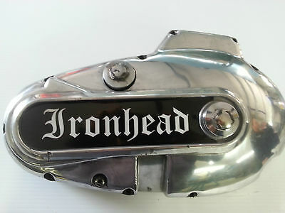 "Harley,Sportster,71-76, ""IRONHEAD"" primary cover insert Decal Sticker Ironhead"