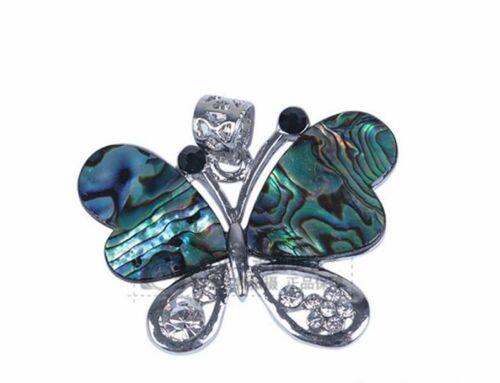 Papillon Hibou Coquille d/'Haliotide Pendentif Plateau Drop Jewelry Making À faire soi-même Findings Animal