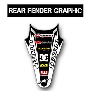 2012 2013 2014 2015 KXF 450 BACK FENDER GRAPHIC MOTOCROSS DECAL KAWASAKI KX450F