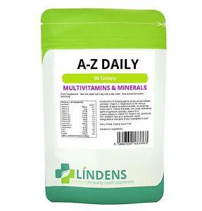 Complete-A-Z-Daily-Multivitamin-90-Tablets-Adults-Men-Women-Multi-Vitamin-S