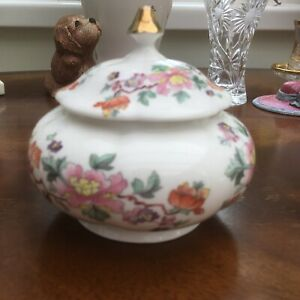 Vintage SOUTHFIELDS Trinket Dish With Lid. Fine Bone China Made In England