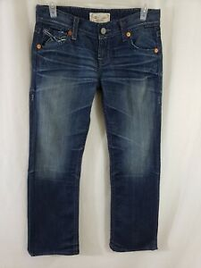 Big-Star-Sophie-Womens-Denim-Blue-Jeans-Size-32-x-31-Boot-Cut-Dark-Wash-Mid-Rise