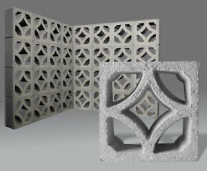 Formstein Beton Dekor Raute - Mauerblock Ornamentstein Breezeblock Brüstung
