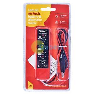 Amtech-Batterie-amp-Alternateur-Testeur-12V-6-LED-Diagnostic-Outil-Voiture-Van