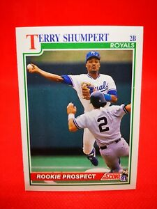 Score 1991 carte card Baseball US NM+/M Kansas City Royals #349 Terry Shumpert