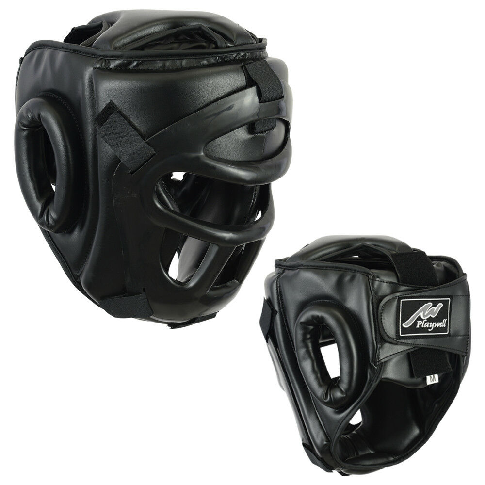 Playwell Head Guard With Removable Face Grill Helmet Krav Maga Training Boxing