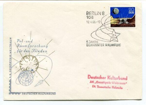 1966 Pol-und Raumforschung Frieden Berlin 8 Bemannter Raumflug Ddr Space Nasa