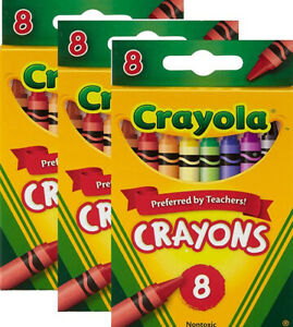 Crayola Non-Toxic Water Proof Crayons, 8ct (Pack of 3)